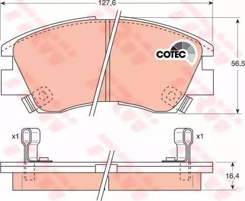 TRW GDB729 - Kit de plaquettes de frein, frein à disque www.widencarpieces.com