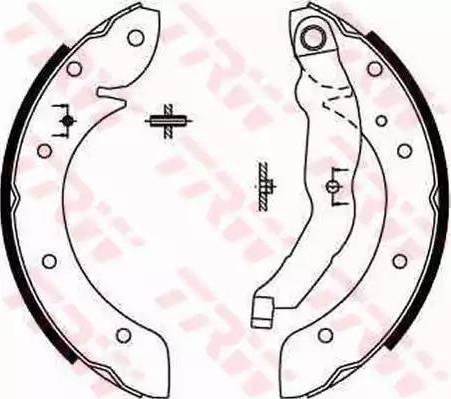 TRW GS8567 - Jeu de freins, freins à tambour www.widencarpieces.com