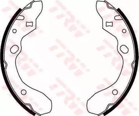 TRW GS8582 - Jeu de freins, freins à tambour www.widencarpieces.com