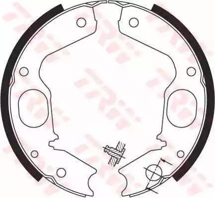 TRW GS8695 - Jeu de mâchoires de frein, frein de stationnement www.widencarpieces.com