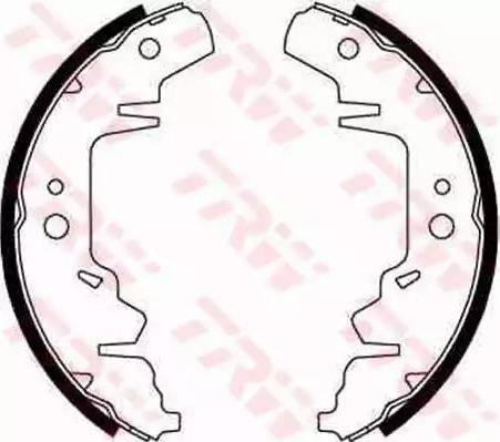 TRW GS8643 - Jeu de freins, freins à tambour www.widencarpieces.com