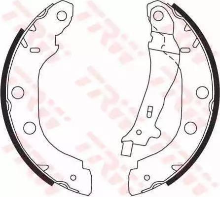 TRW GS8655 - Jeu de freins, freins à tambour www.widencarpieces.com