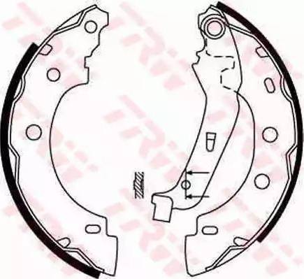 TRW GS8650 - Jeu de freins, freins à tambour www.widencarpieces.com