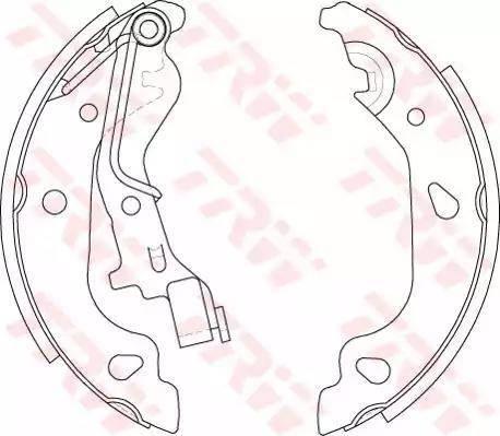 TRW GS8687 - Jeu de freins, freins à tambour www.widencarpieces.com