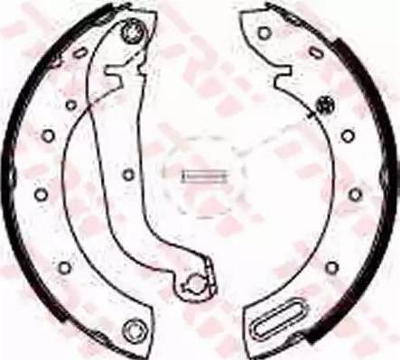 TRW GS8625 - Jeu de freins, freins à tambour www.widencarpieces.com