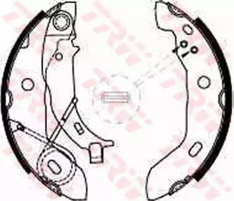 TRW GS8627 - Jeu de freins, freins à tambour www.widencarpieces.com