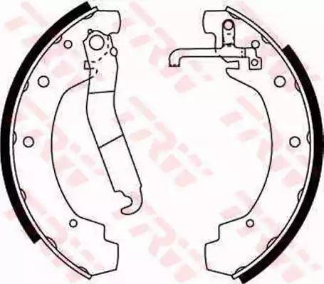 TRW GS8151 - Jeu de freins, freins à tambour www.widencarpieces.com