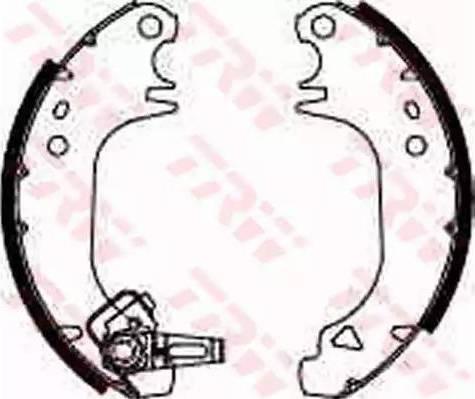 TRW GS8322 - Jeu de freins, freins à tambour www.widencarpieces.com