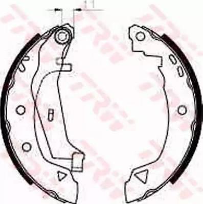 TRW GS8240 - Jeu de freins, freins à tambour www.widencarpieces.com