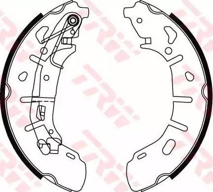 TRW GS8799 - Jeu de freins, freins à tambour www.widencarpieces.com