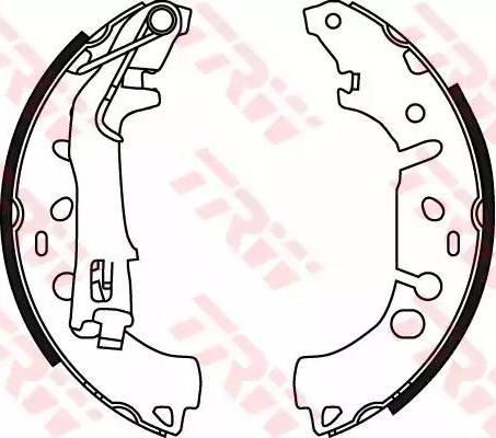 TRW GS8719 - Jeu de freins, freins à tambour www.widencarpieces.com