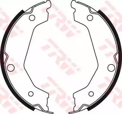 TRW GS8722 - Jeu de mâchoires de frein, frein de stationnement www.widencarpieces.com