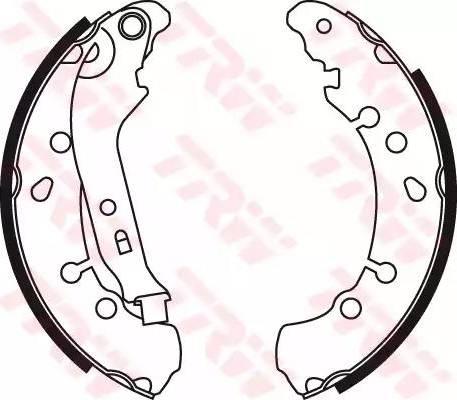TRW GS8778 - Jeu de freins, freins à tambour www.widencarpieces.com