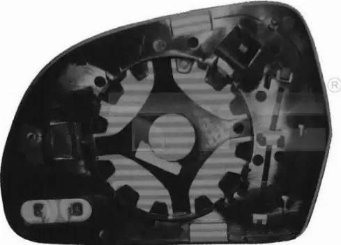TYC 302-0073-1 - Verre de rétroviseur, rétroviseur extérieur www.widencarpieces.com