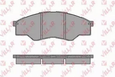 Villar 626.1452 - Kit de plaquettes de frein, frein à disque www.widencarpieces.com