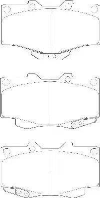 Wagner WBP21679A - Kit de plaquettes de frein, frein à disque www.widencarpieces.com