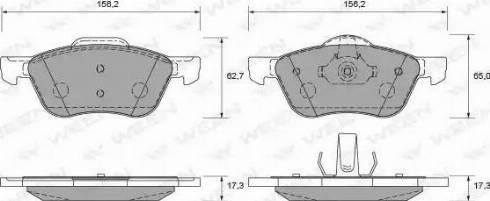 Ween 151-2249 - Kit de plaquettes de frein, frein à disque www.widencarpieces.com