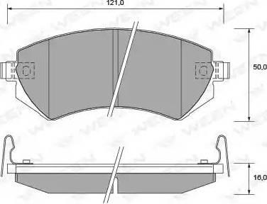 Ween 151-2201 - Kit de plaquettes de frein, frein à disque www.widencarpieces.com