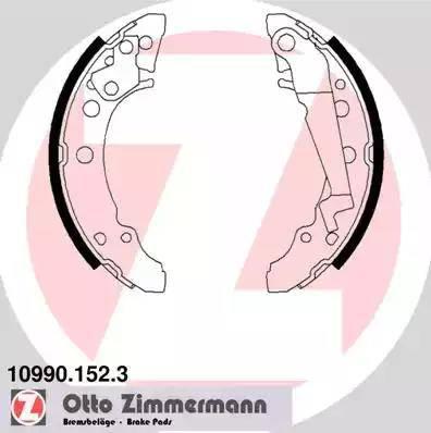 Zimmermann 10990.152.3 - Jeu de freins, freins à tambour www.widencarpieces.com