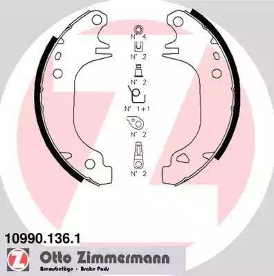 Zimmermann 10990.136.1 - Jeu de freins, freins à tambour www.widencarpieces.com
