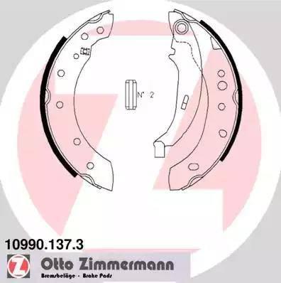 Zimmermann 10990.137.3 - Jeu de mâchoires de frein, frein de stationnement www.widencarpieces.com